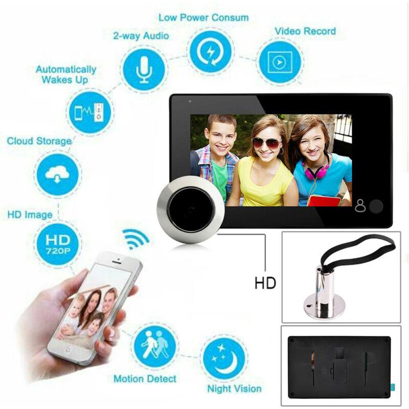 4.3 inch LCD Digital Door Camera Doorbell 110 Degree Peephole Viewer Door Eye