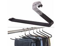 32 non slip open ended trouser hangers