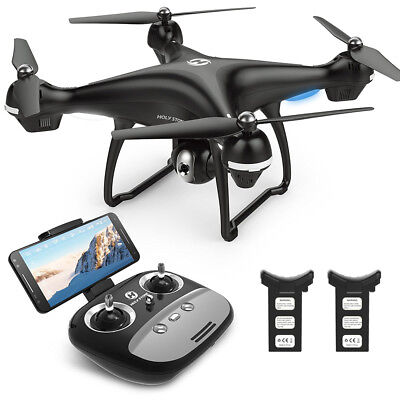 Holy Stone HS100 Drone Quadcopter WIFI Wide Angle Camera 1080P HD FPV 2 Battery