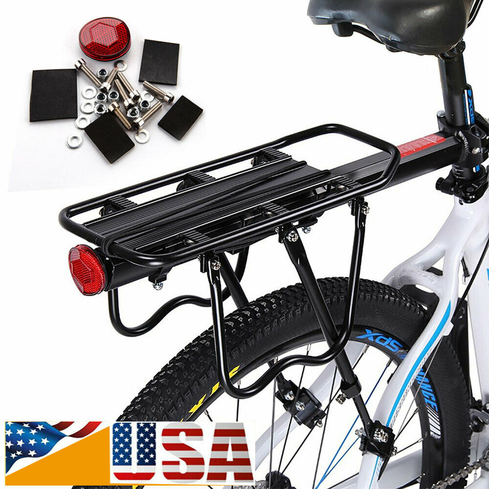 Black Bicycle Quick Release Luggage Seat Post Pannier Carrier Rear Rack Fender