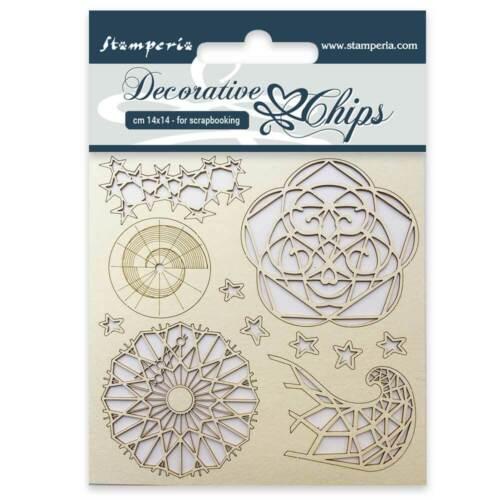 """Stamperia Decorative Chips Arctic Antarctic - ARCTIC - 5.5"""" x 5.5"""" #SCB13"""