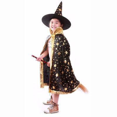 Kinder Kostüm Zauberer Set 2 tlg Karneval Fasching - Kinder Verkleiden