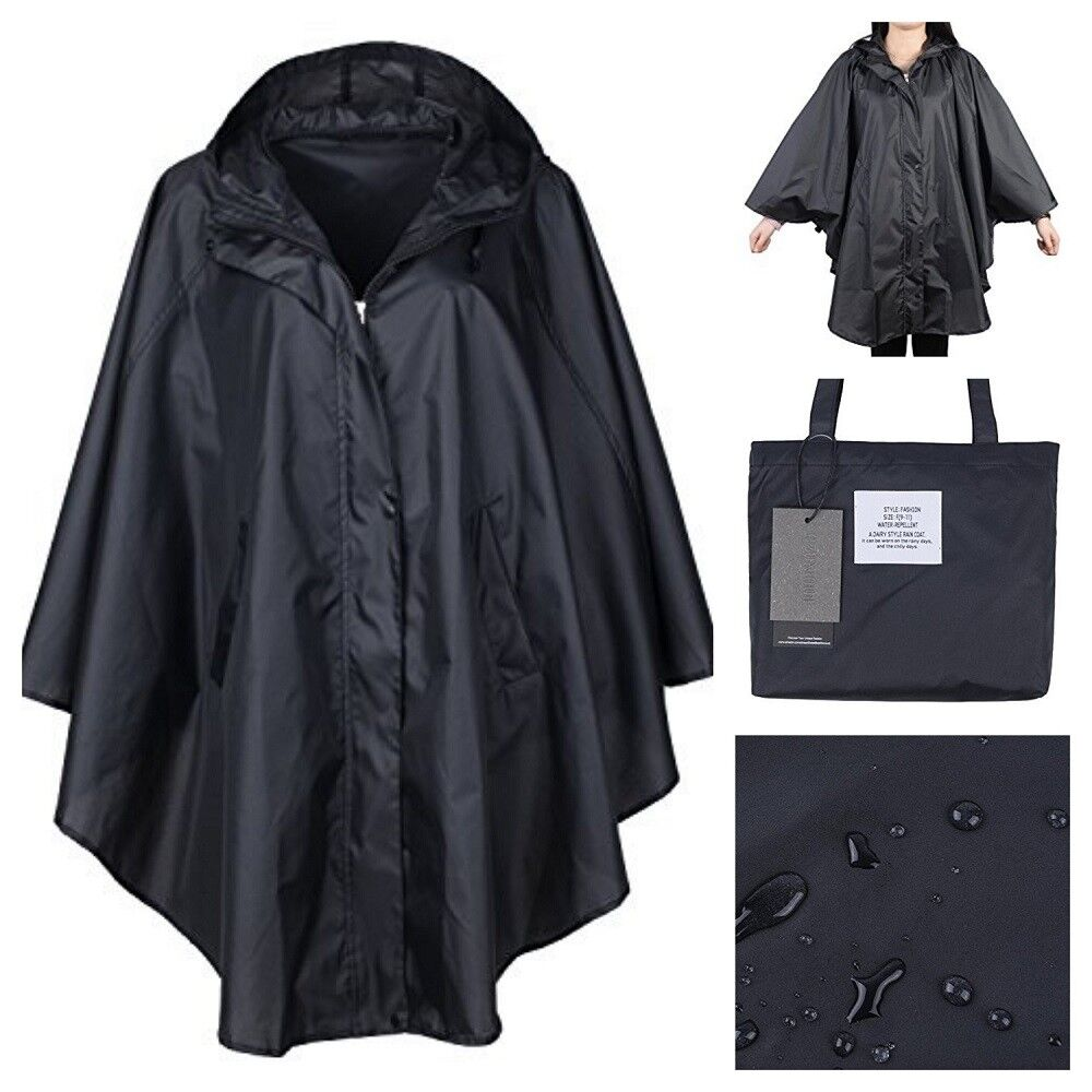 black women rain jacked waterproof batwing sleeved