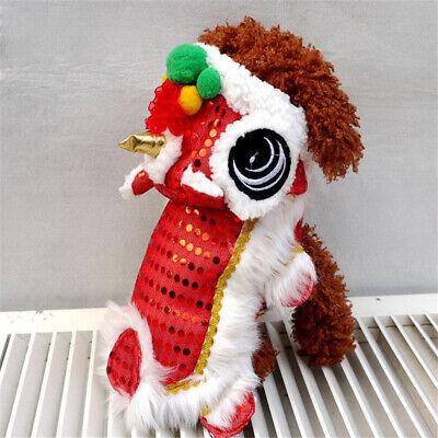 Haustier Kostüm Chinesischer Stil Löwentanz Baumwolle Material mit Pailletten