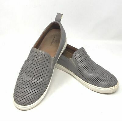 Caslon Eden Grey Leather Perforated Sneakers