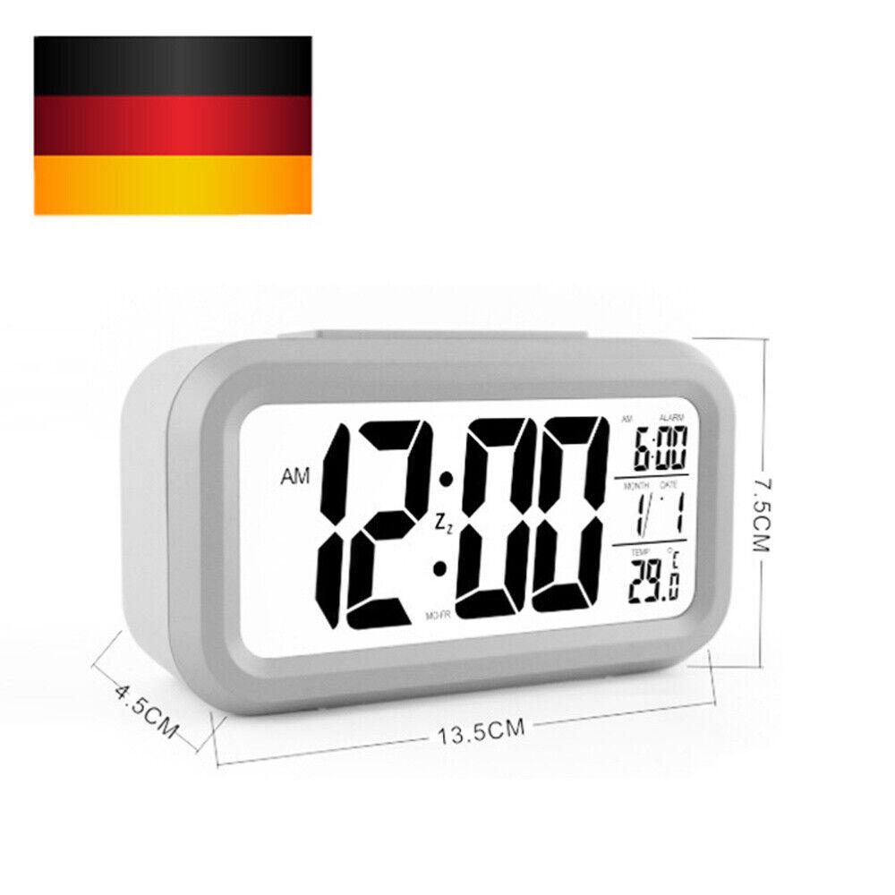 NEU Digitaluhr LED Digitaler Wecker Lauter Alarm Clock Tischuhr für Schlafzimmer