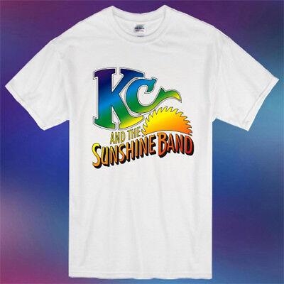 Disco Shirts For Men (New KC And The Sunshine Disco Funk Band Logo  Men's White T-Shirt Size)