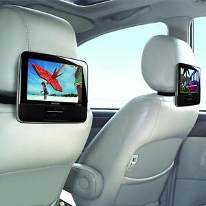 PHILLIPS and AKAI DUAL SCREEN REAR SEAT DVD PLAYERS - KEEP BACK SEAT PASSENGERS QUIETLY ENTERTAINED WHILE YOU DRIVE