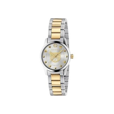 d74df348003 New Gucci G-Timeless Two-Tone Stainless Steel 27mm Women s Watch YA126596