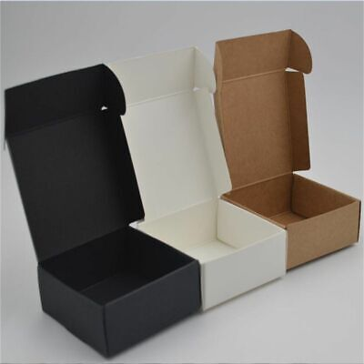 Small Paper Box Brown Cardboard Handmade Soap Box White Craft 10pcslot 12sizes