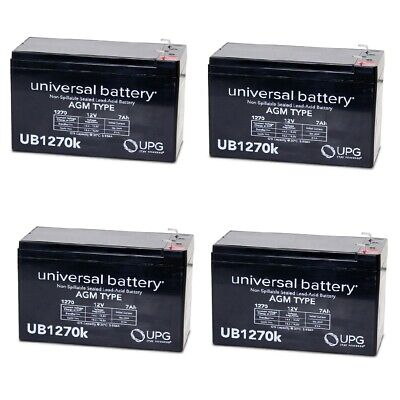 4 PACK UPG UB1270 12V 7AH VERIZON FIOS REPLACEMENT BATTERY for sale  Aurora