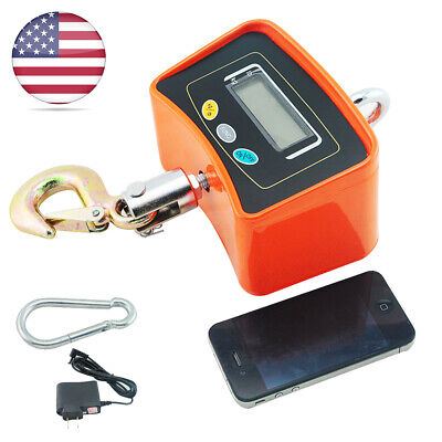 Industrial Hanging Scale 500 Kg 1100 Lbs Digital Crane Scale With 9v Ac Adapter