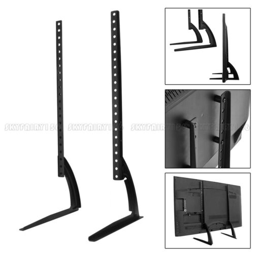 TV Tabletop Mount Bracket Stand Pedestal Base Adjustable Fit