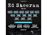 x2 Ed Sheeran Tickets Fri 08th June 2018 - Pitch Standing
