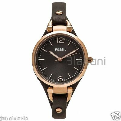 Fossil Original Es3077 Womens Georgia Smoke Leather Watch 32Mm