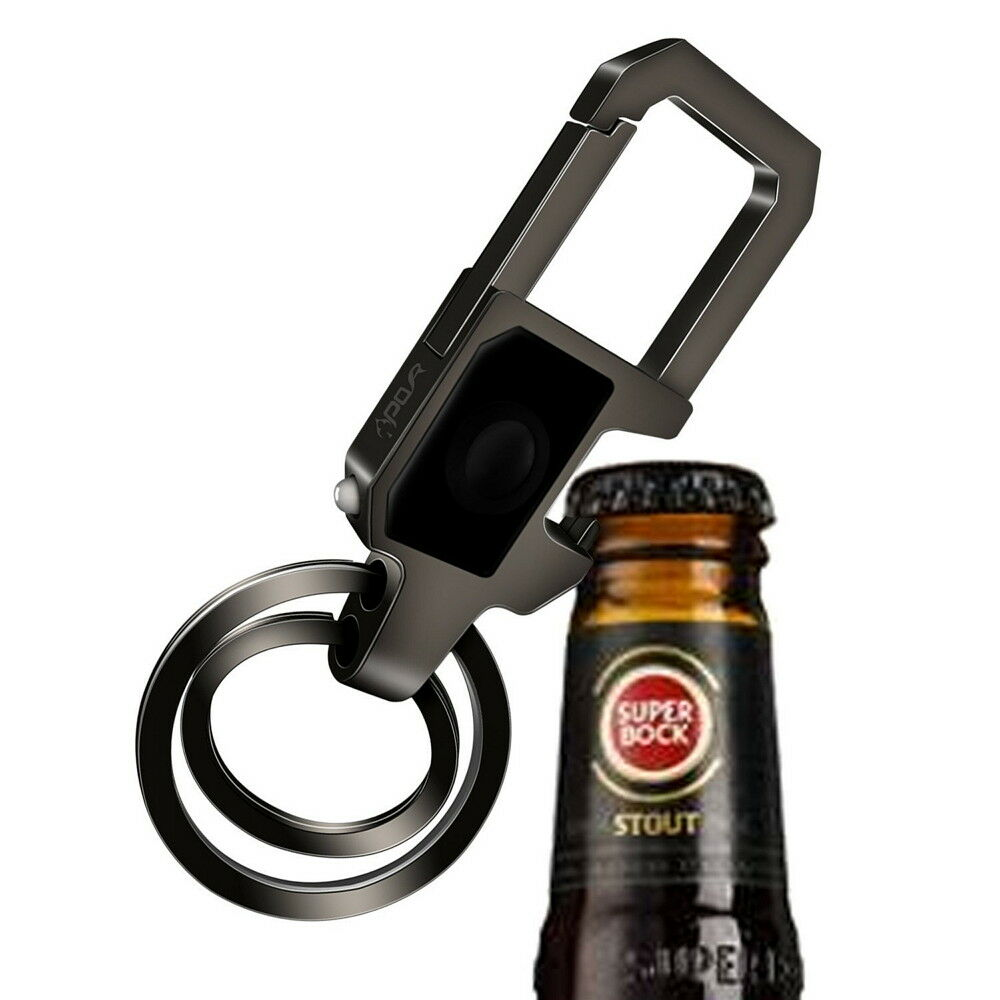 Bottle Opener  Key Chain with LED Light 2 Zinc Alloy Key Rings for Men,Women B Breweriana, Beer