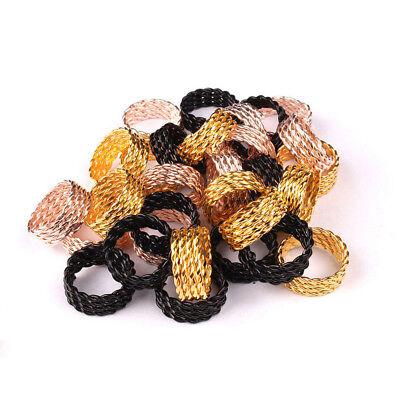 Metal Spring Tube Hair Ring Beads for Dreadlocks Adjustable Hair Braid Cuff Clip](Hair Clips For Dreadlocks)
