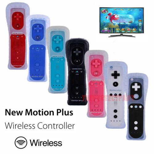 Built in Motion Plus Remote Controller For Nintendo Wii & Wii U Wiimote Gel Case