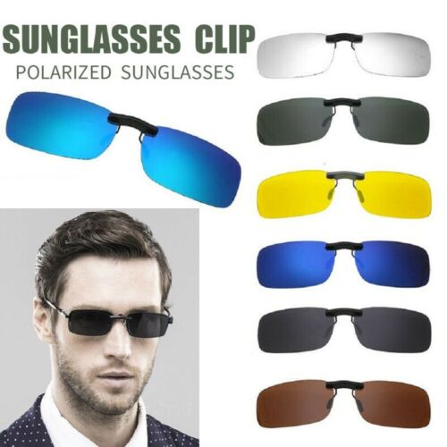 Polarized Driving Night Vision Clip-on Lens UV 400 Sunglasses Glasses US STOCK Clothing, Shoes & Accessories