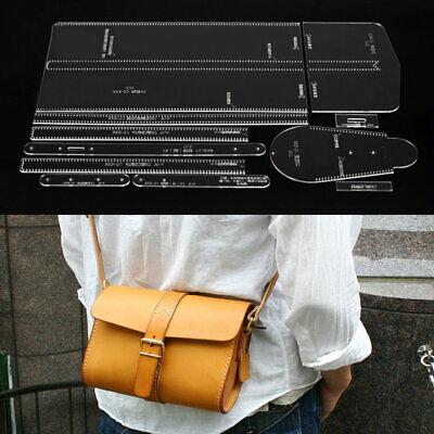 Handgemachte Acryl Leder Crossbody Tasche Schultertasche Muster Schablone Vorlag (Crossbody-tasche Muster)