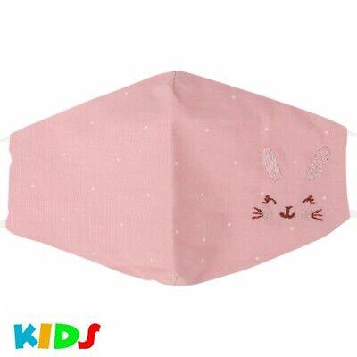 Stoffmaske Kindermaske Mundschutz Maske Hase Pastell Rosa Junge Mädchen Punkte