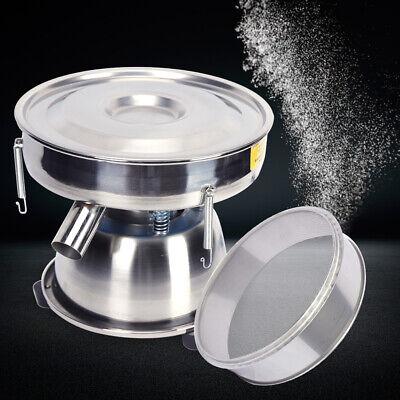 12 Mechanical Electric Sieve Vibrating Sieve Machine Powder Shaker 50mesh 110v