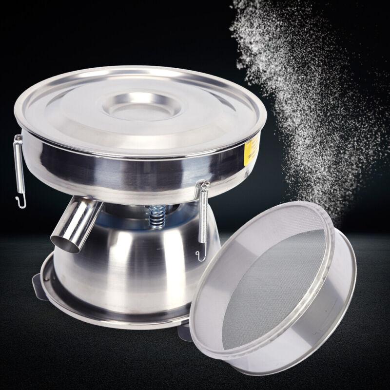 """Φ12"""" Screen Electric Vibrating Sieve Machine Powder Vibrator Sifter + 50/80 Mesh"""