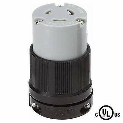 NEMA L6-20R 20 Amp 250 Volt Female Twist Lock 3 Wire Power Cord Plug UL Locking Plug 20 Amp