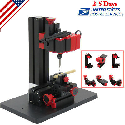 6 In 1 Lathe Diy Machine Jigsaw Milling Lathe Drilling Tool Kit Us Ship New
