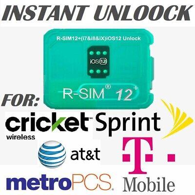 RSIM 12+ New 2019 R-SIM Nano Unlock Card fits iPhone X/8/7/6/6s/5/4G iOS 12 13
