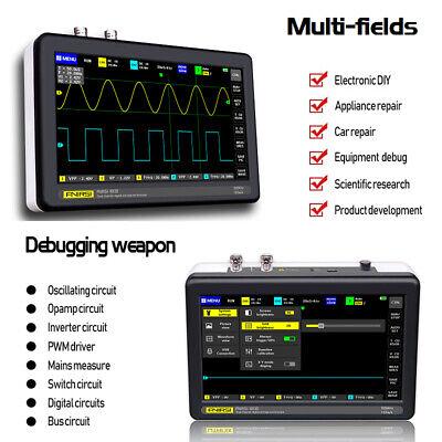 Fnirsi-1013d 7 Inch Oscilloscope 2-ch 100mhz Bandwidth 1gsas Sampling Rate O5x9