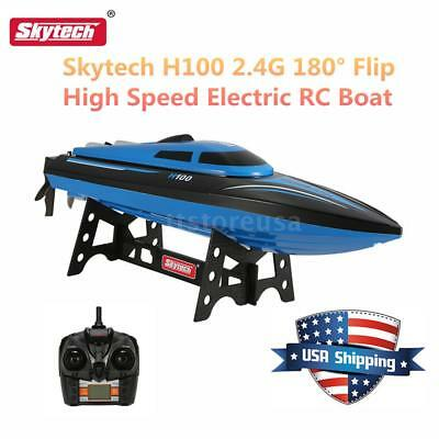 Skytech H100 2.4G Remote Controlled 180° Flip 20KM/H Electric RC Boat NICE