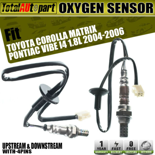 2pcs O2 Oxygen Sensors For Pontiac Vibe Toyota Corolla