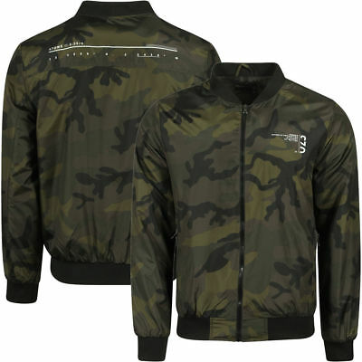 Dissident Ayles Camouflage Print Bomber Jacket Small TD170 QQ 05