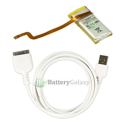 Replacement BATTERY+USB Data Cable for Apple iPod 7th Gen Classic 120GB 160GB