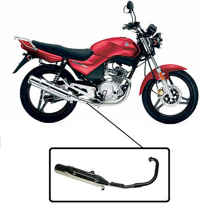 Motorcycle Complete Exhaust Silencer & Downpipe Chrome Yamaha YBR125 All Years