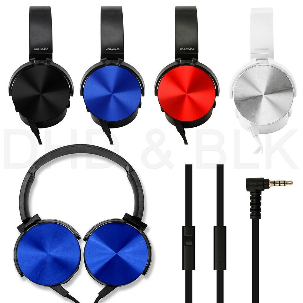 Over Ear Headphone Earphone Headset with Mic Wired Noise Can