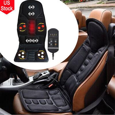 Lumbar Massage Cushion - Massage Car Seat Cushion Back Chair Pad Heated Lumbar Massager Timing Function