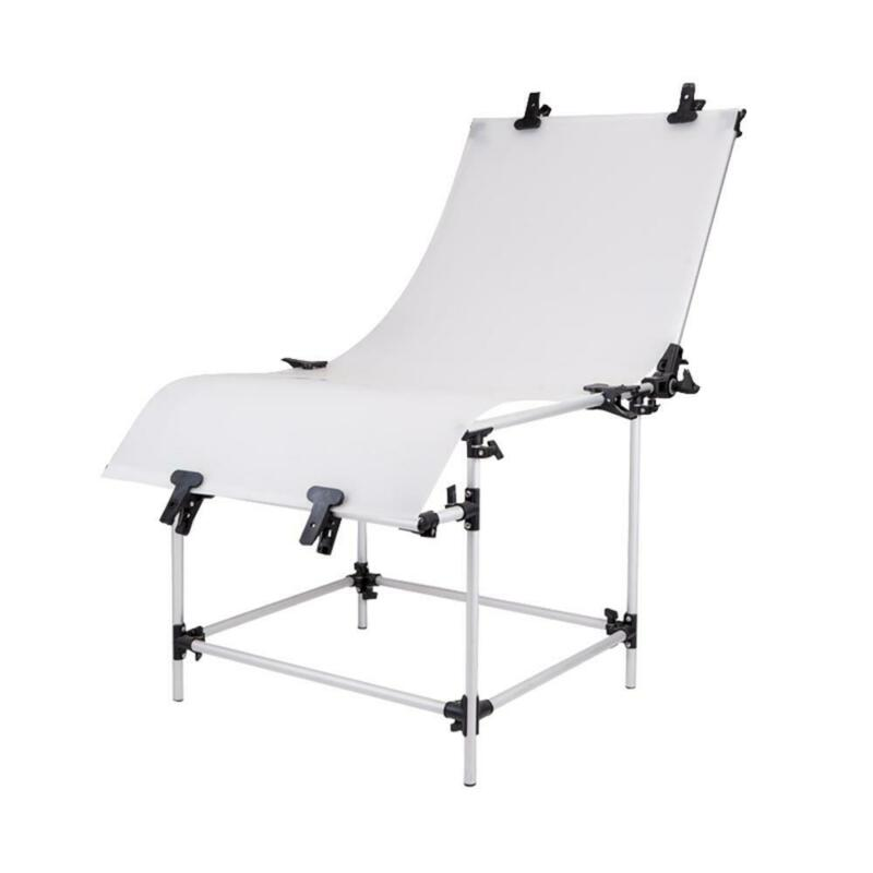 Product Photography Shooting Table Photo Studio Bench White Backgrounds 130cm