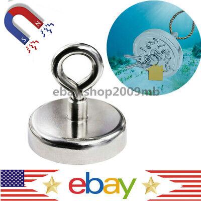 91lbs Strong Salvage Magnet Pot Fishing Magnet Deep Sea Magnetic Hook Neodymium