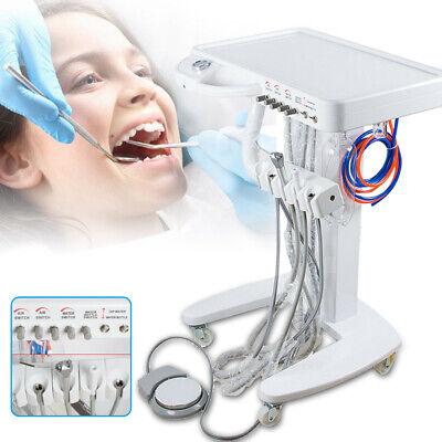 Portable Dental Mobile Self Delivery Cart 4 Holes Weak Suction Treatment Sale Us