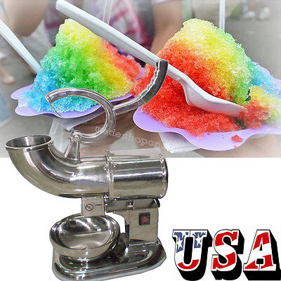 Ice Shaver Machine Sno Snow Cone Maker Shaved Icee Electric Crusher Cold Drink