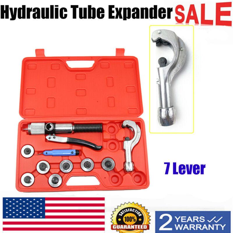 US 7 Lever Tube Expander Tool Kit Aluminum Hydraulic Tubing Expanding Swaging