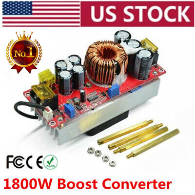 1pc 1800w Dc-dc Boost Converter 10-60v To 12-90v 22a Step-up Power Supply Module
