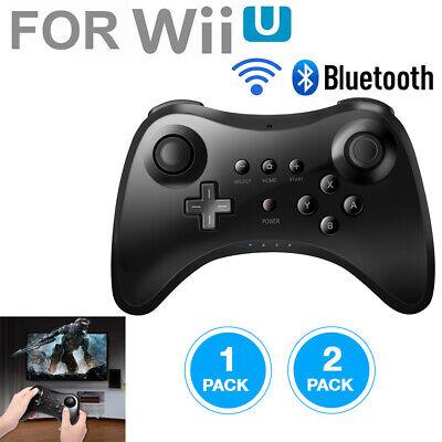2X 1X NEW Wireless Pro Controller Gamepad Joystick Bluetooth for Nintendo Wii U