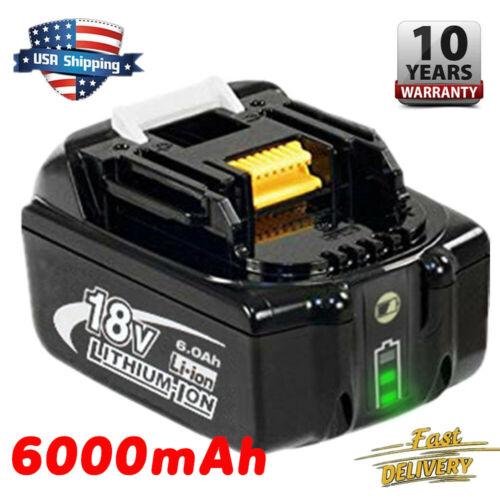 Replace Makita BL1860B BL1830B LXT Lithium Battery 18V 6.0Ah