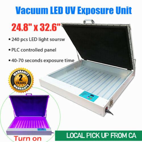 "Tabletop Precise 24.8"" x 32.6"" 120W Screen Printing Vacuum LED UV Exposure Unit"