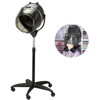 Ang Portable Hair Salon Spa Tumayo ng Buhok ng Buhok ng Timer Bonnet Rolling Base Stand US X3H6
