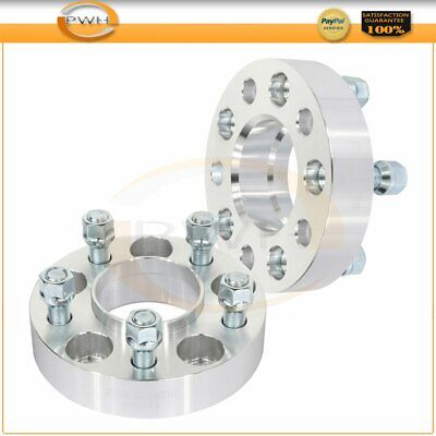 "1.25"" 5x4.5 14x1.5 studs silver 2x wheel spacers for 2005-2016 Chrysler 300"