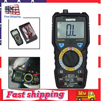 Digital Clamp Meter Multimeter Handheld Rms Acdc Mini Resistance Value Test 4z